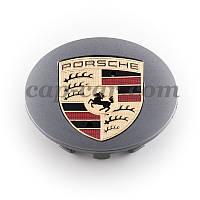 Ковпачок Porche графітовий кольорова емблема, фото 1