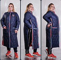 Жіноче демісезонне пальто видовжене, з 48 по 98 розмір, фото 1