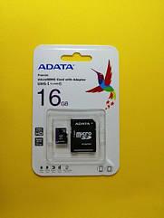 Карта памяти A-Data 16GB SDHC Class 10 + Адаптер