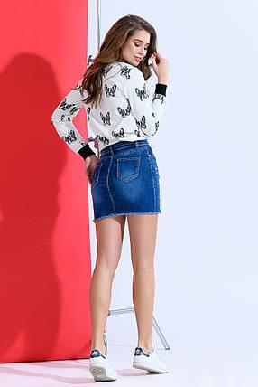 Короткая юбка с жемчугом, фото 2