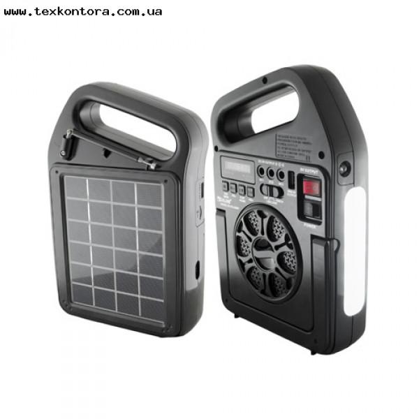 Фонарь радио + MP3+Bluetooth RX-498BT с солнечной зарядкой