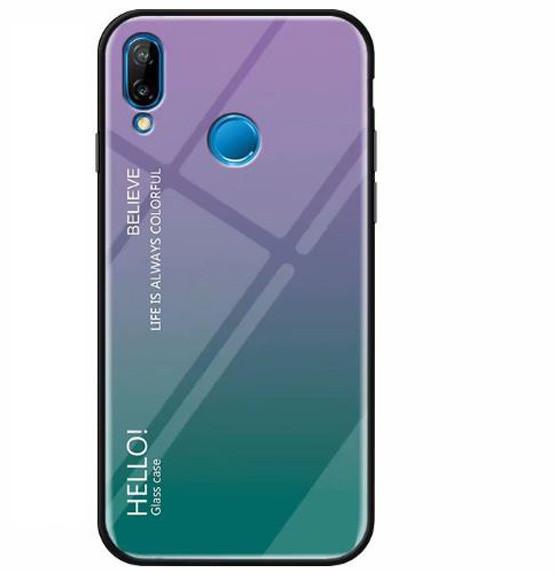 TPU+Glass чехол Gradient HELLO для Xiaomi Mi Play