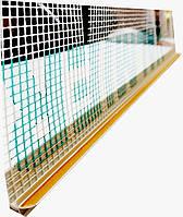 Профиль оконный примыкания 6мм с манжетой и сеткой (прошитый) Valmiera, фото 1