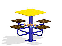 Детский столик для настольных игр с сиденьями