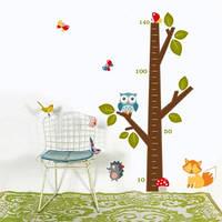 Наклейка детская на стену Дерево ростомер ( виниловая интерьерная наклейка для детской)
