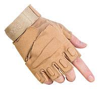 Тактические беспалые перчатки BlackHawk Песок, фото 1