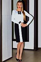Платье черно-белое для офиса, фото 1