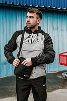 Анорак House Nike, черно-серый мужской весенний/осенний