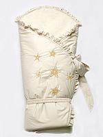 "Конверт-одеяло зимний на меху ""Сказка"" бежевый, фото 1"