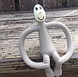 Игрушка-прорезыватель Matchstick Monkey (цвет серый, 10,5 см), фото 6