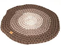 Ковер круглый HANDMADE BEJ 120см коричневый