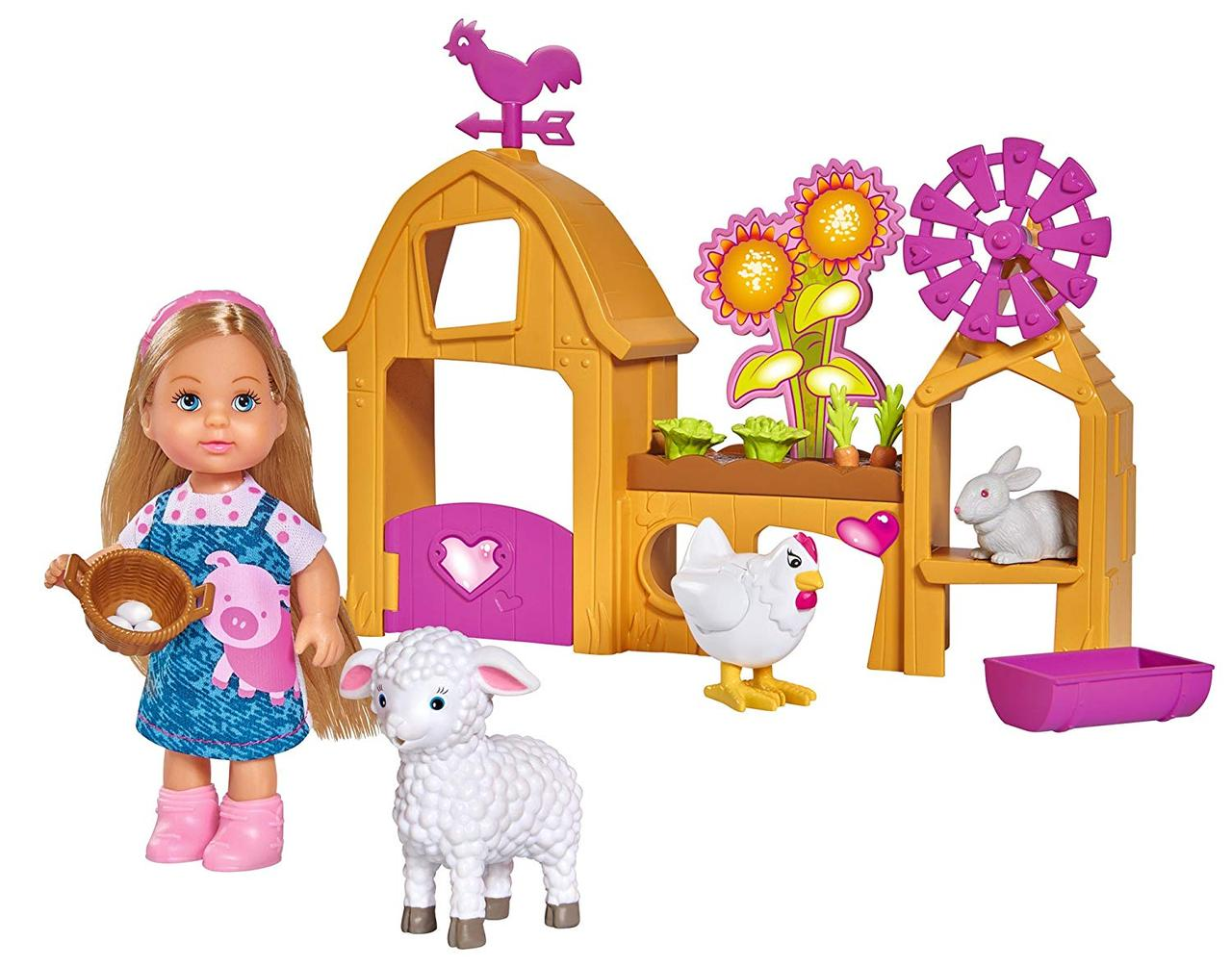 Кукла Еви Счастливая ферма с аксессуарами Simba Evi