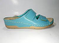 Женские кожаные шлепанцы на липучках ТМ Inblu, фото 1