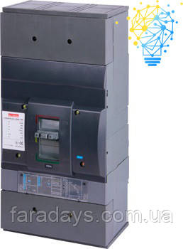 Шафовий автоматичний вимикач 3р, 1000А (e.industrial.ukm.1600Rе.1000) з електронним розчіплювачем