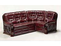 Угловой диван с деревянными подлокотниками Ричмонд, раскладка дельфин. Даниро
