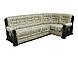 Угловой диван с деревянными подлокотниками Ричмонд, раскладка дельфин. Даниро, фото 3