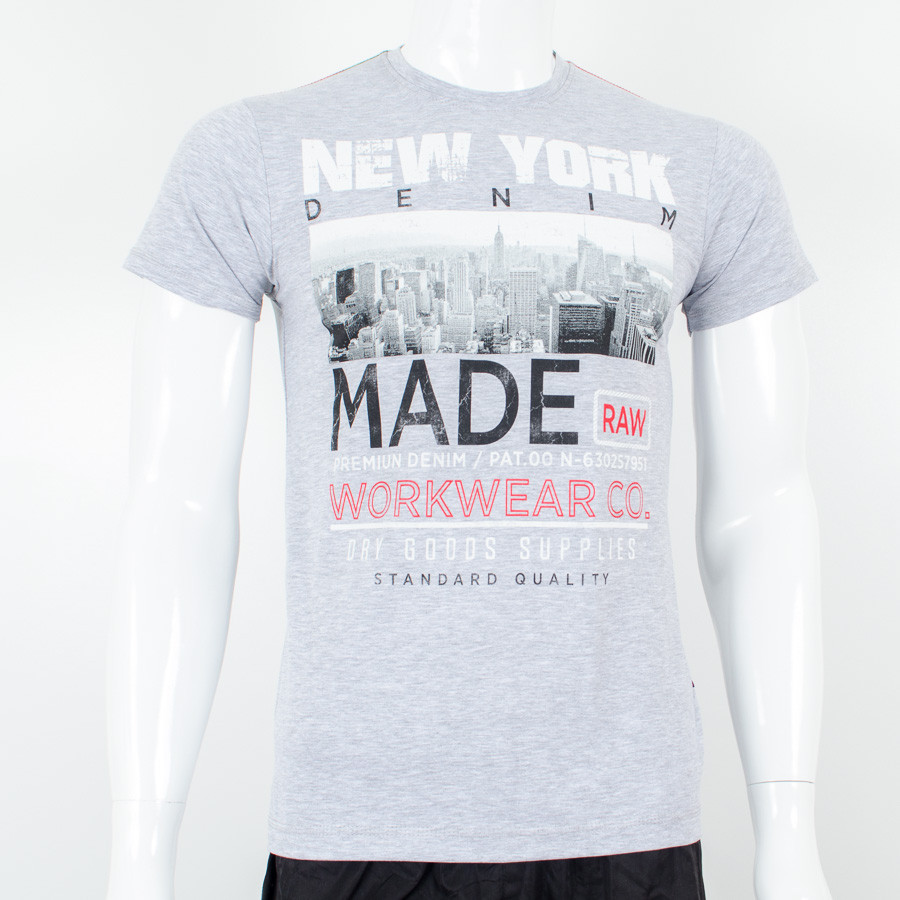 "Молодежная футболка Валимарк, меланж,  ""NY 19091"""