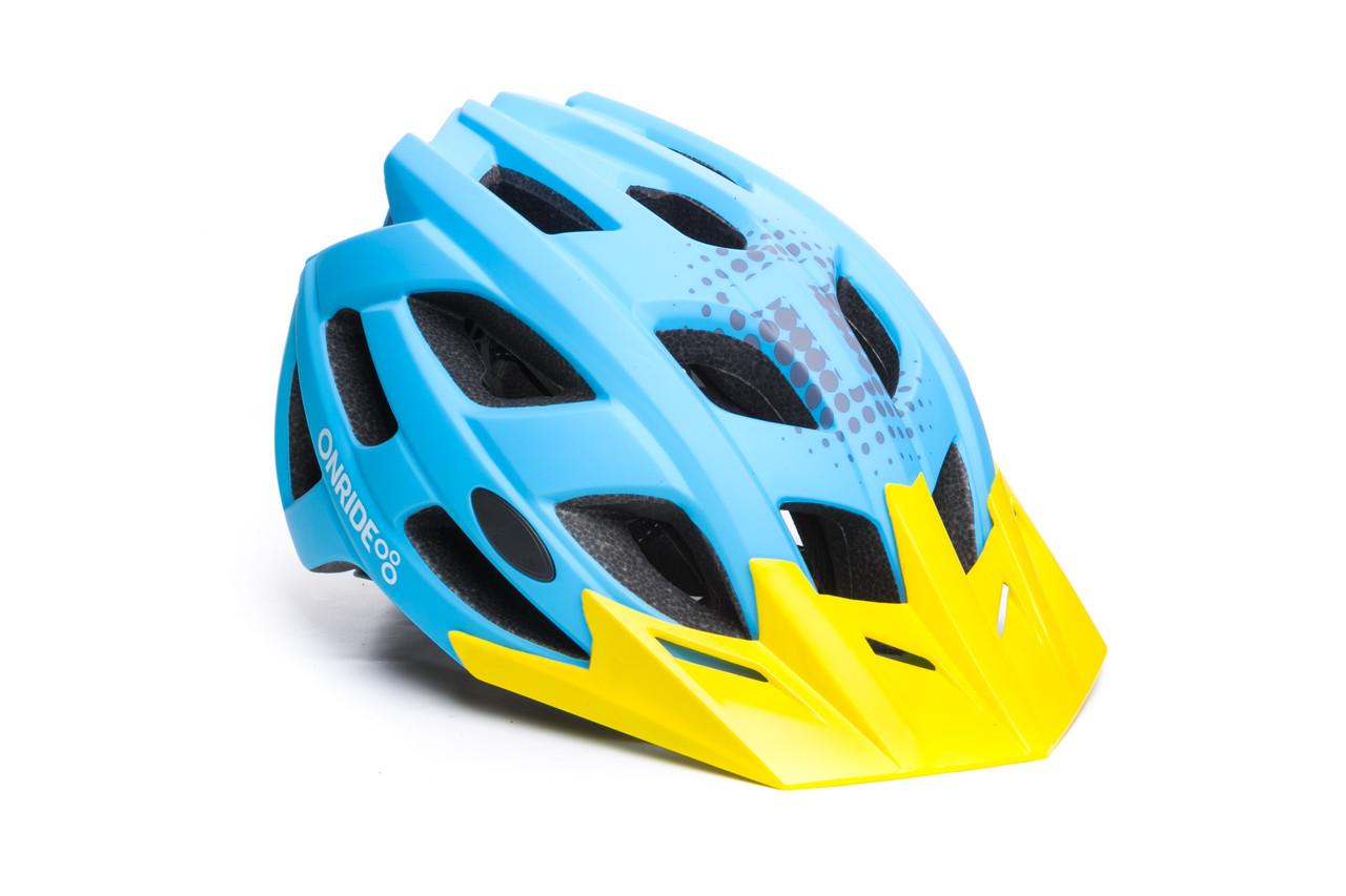 Шлем велосипедный ONRIDE Force M Blue (55-58 см)