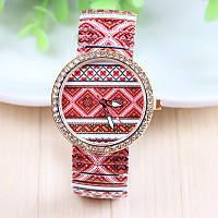 Женские наручные часы с рисунком вышиванка
