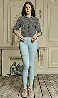 Женские лосины из джинс-котона №1752 голубой, фото 1