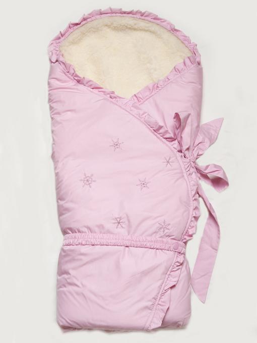 """Конверт-одеяло зимний на меху """"Сказка"""" розовый"""