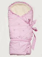 "Конверт-одеяло зимний на меху ""Сказка"" розовый, фото 1"