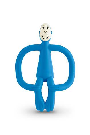 Игрушка-прорезыватель Matchstick Monkey (цвет синий, 10,5 см), фото 2