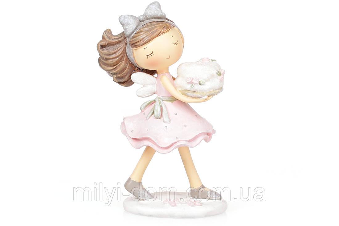 Декоративная фигурка Фея с тортиком, 17см