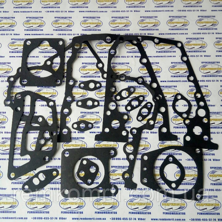 Набор прокладок для ремонта двигателя Д-144 трактор Т-40 (прокладка кожкартон TEXON) (малый набор)