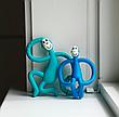 Игрушка-прорезыватель Matchstick Monkey (цвет синий, 10,5 см), фото 6