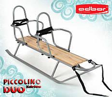 Санки для двойни Piccolino Xdrive Duo со спинками (серый)