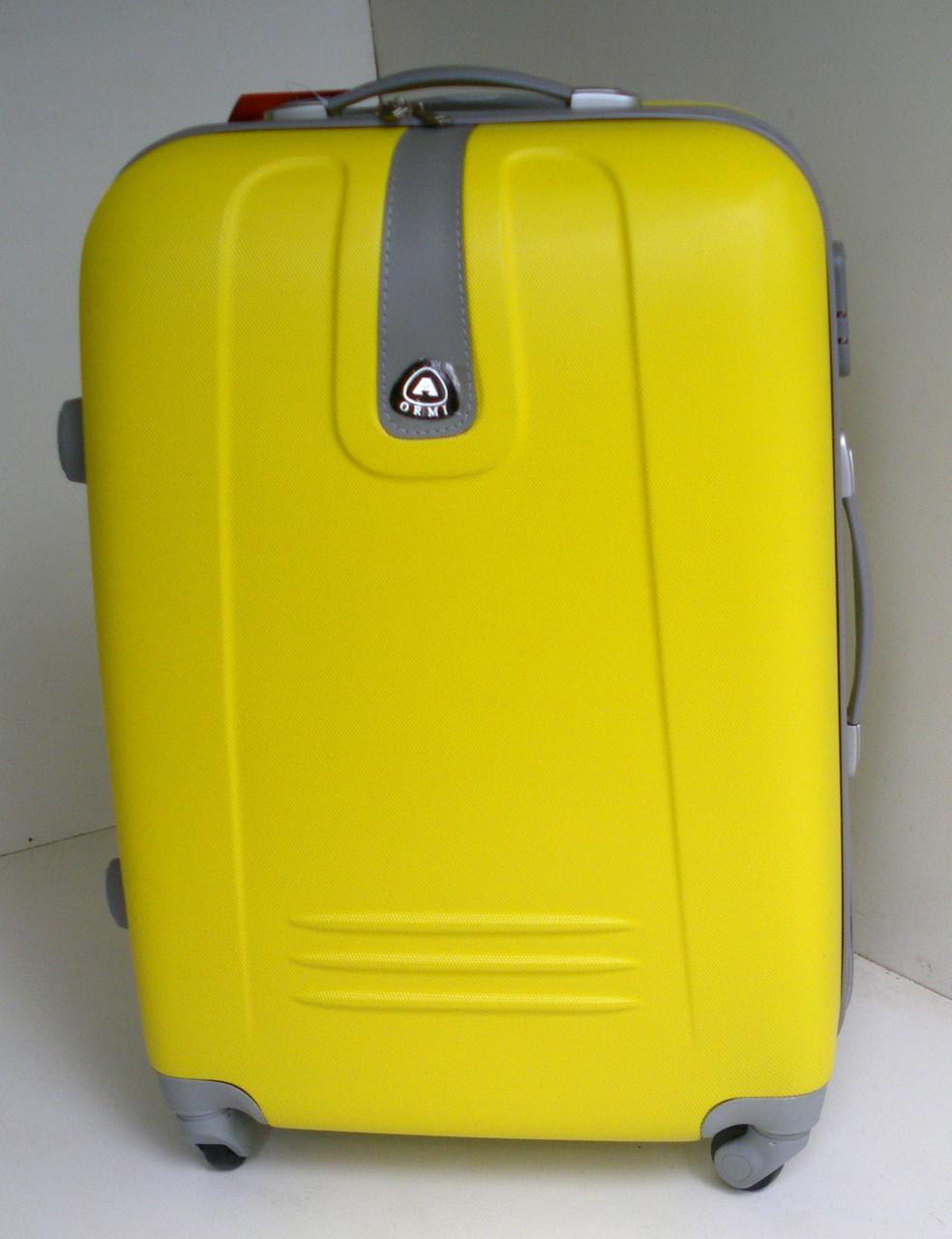 Чемодан дорожный на колесах пластиковый  большой - желтый  продажа ... 18eb0227187