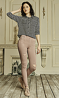 Женские лосины из джинс-котона №1748 пудра, фото 1