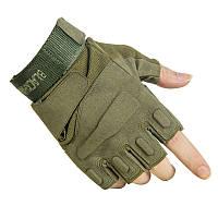 Тактические беспалые перчатки BlackHawk Олива