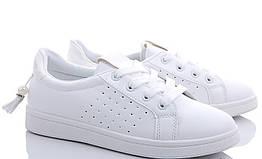 Женские кроссовки белого цвета с бусинкой на низком ходу 38, 39р. 190126316