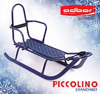 Санки Piccolino со спинкой (синий)