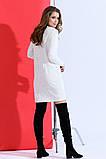 Вязаное платье -туника мелкая вязка 42-46р.(2расцв), фото 2