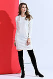 Вязаное платье -туника мелкая вязка 42-46р.(2расцв), фото 3