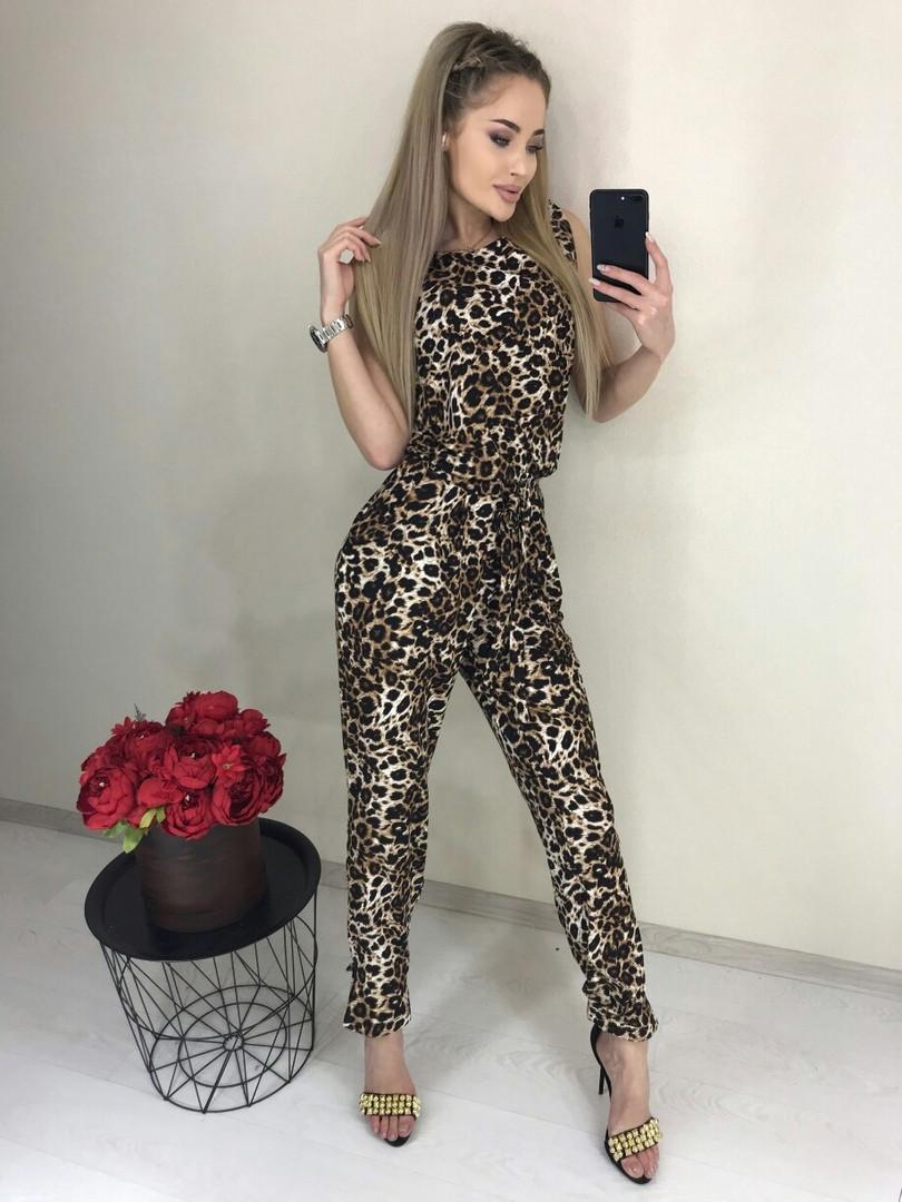 Комбинезон женский леопард