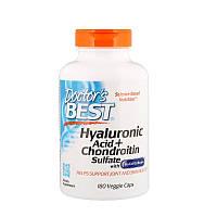 """Гиалуроновая кислота + Сульфат хондроитина Doctor's Best """"Hyaluronic Acid + Chondroitin Sulfate"""" (180 капсул)"""