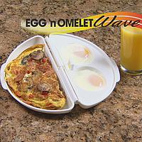 Формочка для приготовления омлета Egg and Omelet Wave, омлетница Егг Омлет Вейв в микроволной печи