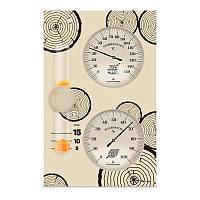Банная станция Стеклоприбор исп. 2, часы песочные, гигрометр и термометр для сауны (0…+150 °С) (300488)