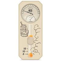 Банная станция Стеклоприбор исп. 3, часы песочные, гигрометр и термометр для сауны (0…+150 °С, 0-100%) (300633)