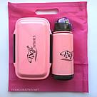 Набор ланч бокс и бутылка для детей в школу - розовый, фото 5
