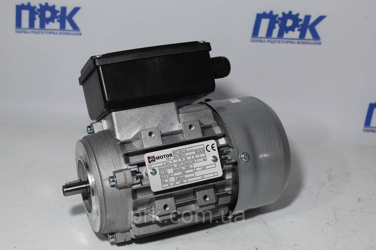 Однофазный асинхронный двигатель ML 63 1-4 0,12кВт 1380 об./мин. Promotor