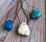 Камень на шнурке   Кахалонг оберег   Натуральный камень с отверстием, фото 2