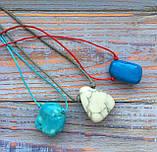 Камень на шнурке   Кахалонг оберег   Натуральный камень с отверстием, фото 4