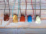 Камень на шнурке   Кахалонг оберег   Натуральный камень с отверстием, фото 3