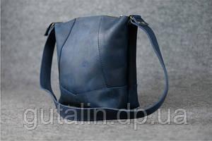 Женская сумка ручной работы из натуральной кожи Comfort цвет синий
