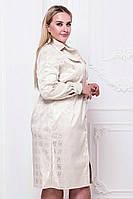 Женское коттоновое платье-рубашка на пуговицах Батал, фото 1